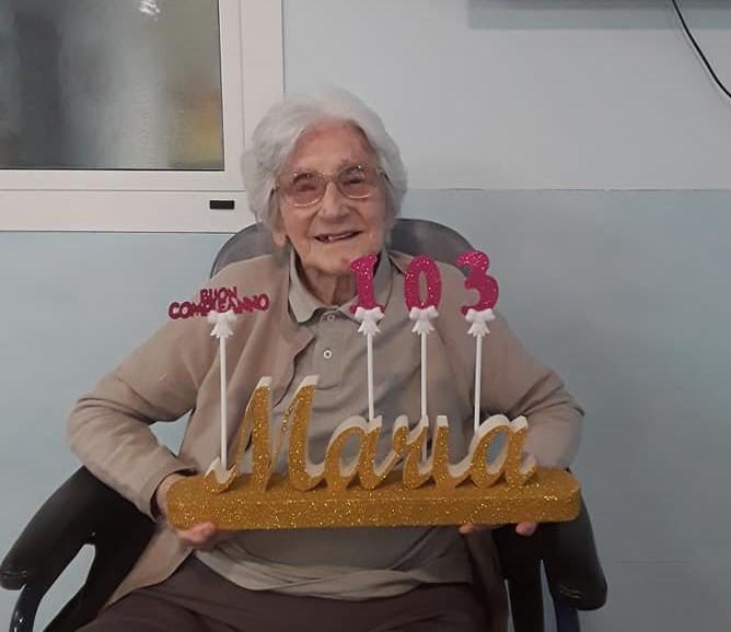 …103 anni della Signora Maria